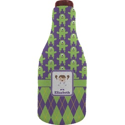 Astronaut, Aliens & Argyle Wine Sleeve (Personalized)