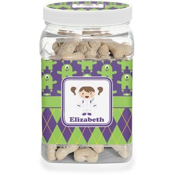 Astronaut, Aliens & Argyle Pet Treat Jar (Personalized)