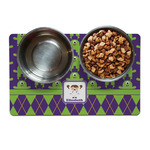 Astronaut, Aliens & Argyle Dog Food Mat (Personalized)