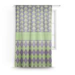 Astronaut, Aliens & Argyle Sheer Curtains (Personalized)