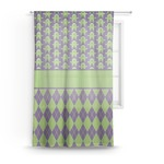 Astronaut, Aliens & Argyle Sheer Curtains (Personalized)