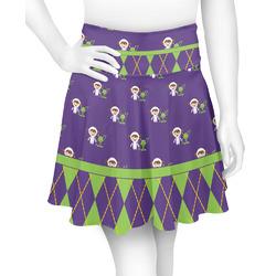 Astronaut, Aliens & Argyle Skater Skirt (Personalized)