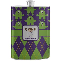 Astronaut, Aliens & Argyle Stainless Steel Flask (Personalized)