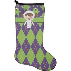 Astronaut, Aliens & Argyle Christmas Stocking - Neoprene (Personalized)