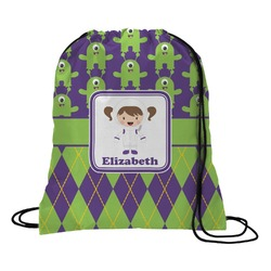 Astronaut, Aliens & Argyle Drawstring Backpack (Personalized)