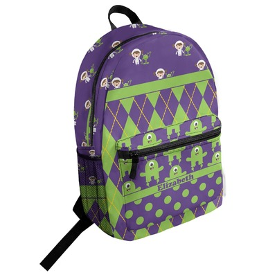 Astronaut, Aliens & Argyle Student Backpack (Personalized)