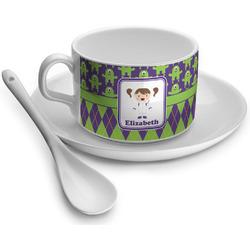 Astronaut, Aliens & Argyle Tea Cup - Single (Personalized)