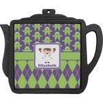 Astronaut, Aliens & Argyle Teapot Trivet (Personalized)