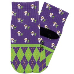 Astronaut, Aliens & Argyle Toddler Ankle Socks (Personalized)
