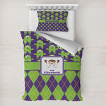Astronaut, Aliens & Argyle Toddler Bedding w/ Name or Text
