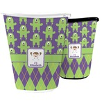 Astronaut, Aliens & Argyle Waste Basket (Personalized)