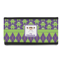 Astronaut, Aliens & Argyle Leatherette Ladies Wallet (Personalized)