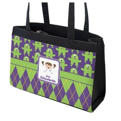 Astronaut, Aliens & Argyle Zippered Everyday Tote (Personalized)