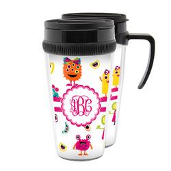 Girly Monsters Acrylic Travel Mugs (Personalized)