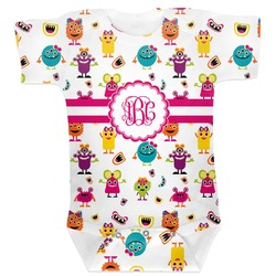Girly Monsters Baby Bodysuit (Personalized)
