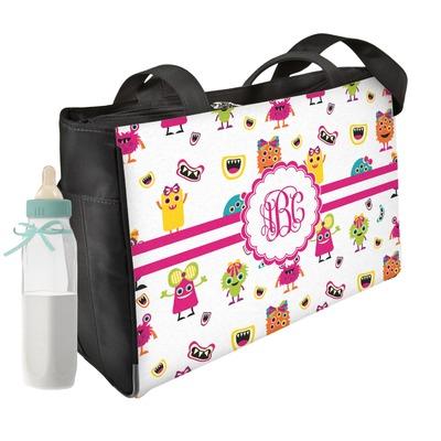 Girly Monsters Diaper Bag w/ Monogram