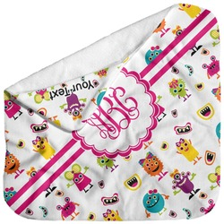 Girly Monsters Baby Hooded Towel (Personalized)