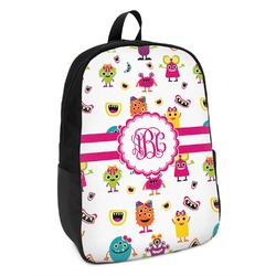 Girly Monsters Kids Backpack (Personalized)