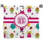 Girly Monsters Full Print Bath Towel (Personalized)