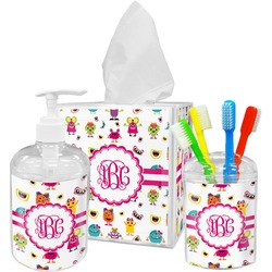Girly Monsters Bathroom Accessories Set (Personalized)