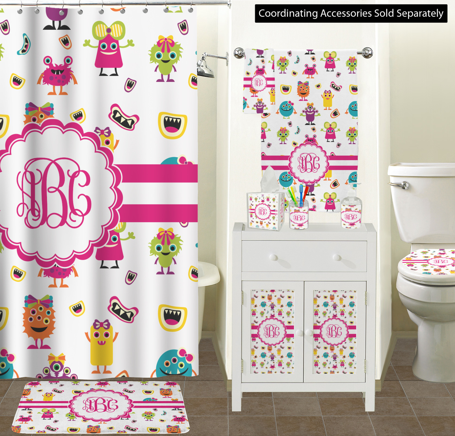 Girly Monsters Bathroom Scene