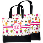 Girly Monsters Beach Tote Bag (Personalized)