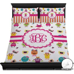 Girly Monsters Duvet Cover Set (Personalized)