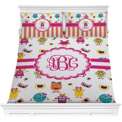 Girly Monsters Comforter Set (Personalized)