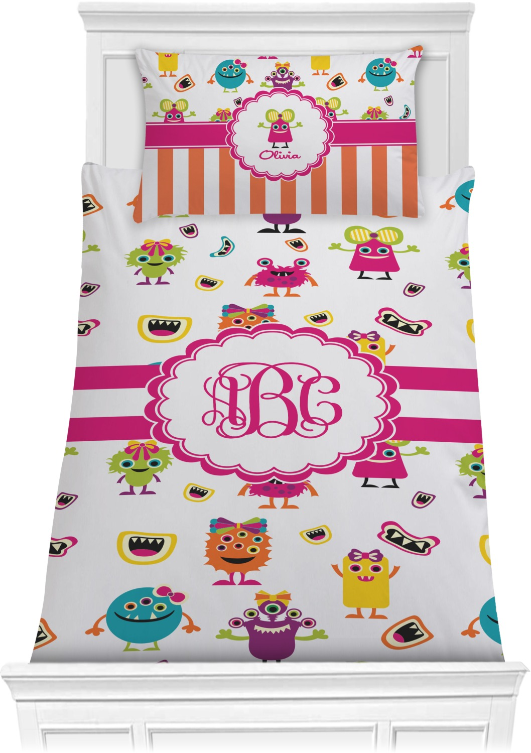 Girly Monsters Comforter Set