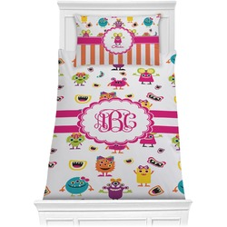 Girly Monsters Comforter Set - Twin (Personalized)