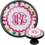 Girly Monsters Cabinet Knob (Black) (Personalized)