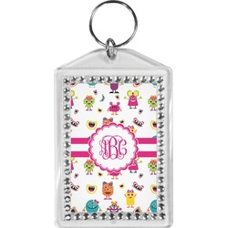 Girly Monsters Bling Keychain (Personalized)