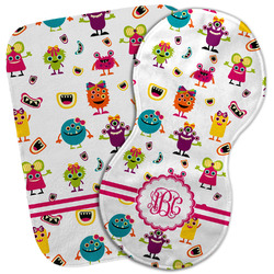 Girly Monsters Burp Cloth (Personalized)