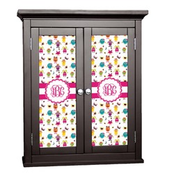 Girly Monsters Cabinet Decal - Custom Size (Personalized)