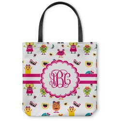 Girly Monsters Canvas Tote Bag (Personalized)