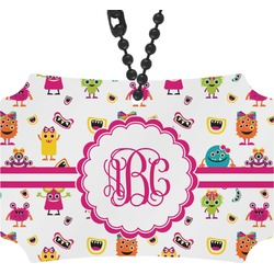 Girly Monsters Rear View Mirror Ornament (Personalized)