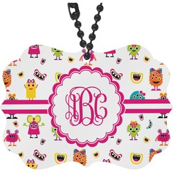 Girly Monsters Rear View Mirror Charm (Personalized)