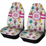 Girly Monsters Car Seat Covers (Set of Two) (Personalized)