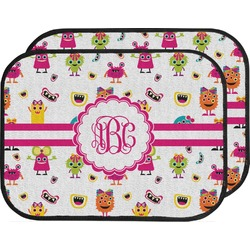 Girly Monsters Car Floor Mats (Back Seat) (Personalized)