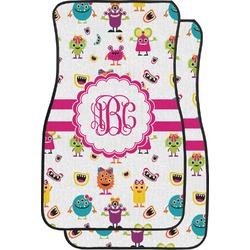 Girly Monsters Car Floor Mats (Front Seat) (Personalized)