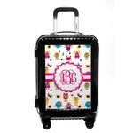 Girly Monsters Carry On Hard Shell Suitcase (Personalized)