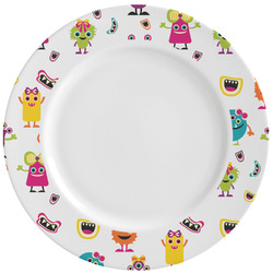 Girly Monsters Ceramic Dinner Plates (Set of 4) (Personalized)
