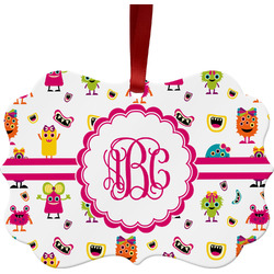 Girly Monsters Ornament (Personalized)