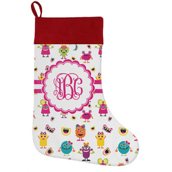 Girly Monsters Holiday / Christmas Stocking (Personalized)