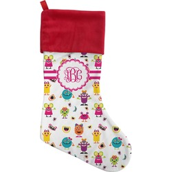 Girly Monsters Christmas Stocking (Personalized)
