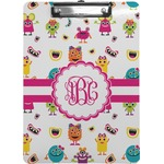 Girly Monsters Clipboard (Personalized)