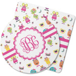 Girly Monsters Rubber Backed Coaster (Personalized)