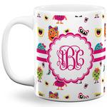 Girly Monsters 11 Oz Coffee Mug - White (Personalized)