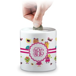 Girly Monsters Coin Bank (Personalized)
