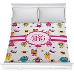 Girly Monsters Comforter (Personalized)